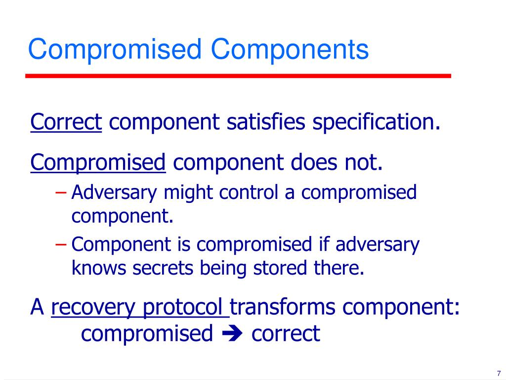 Compromised Components