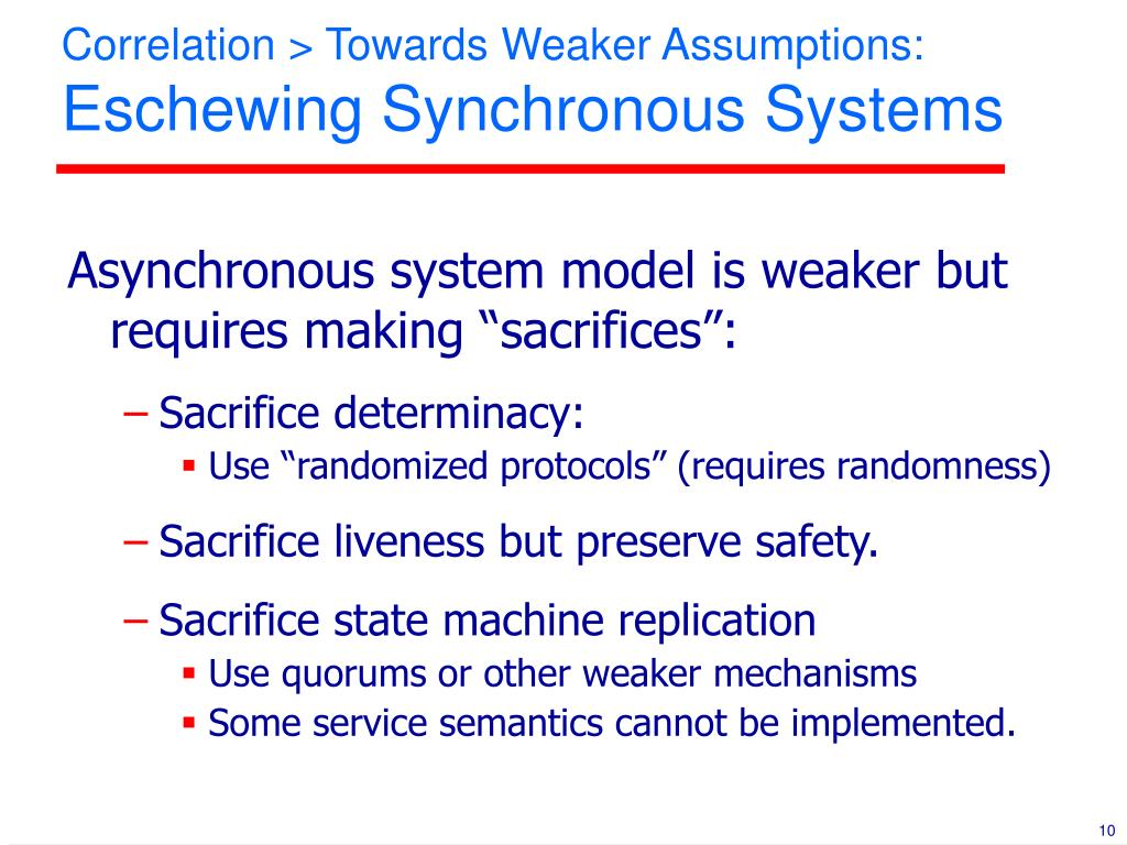 Correlation > Towards Weaker Assumptions: