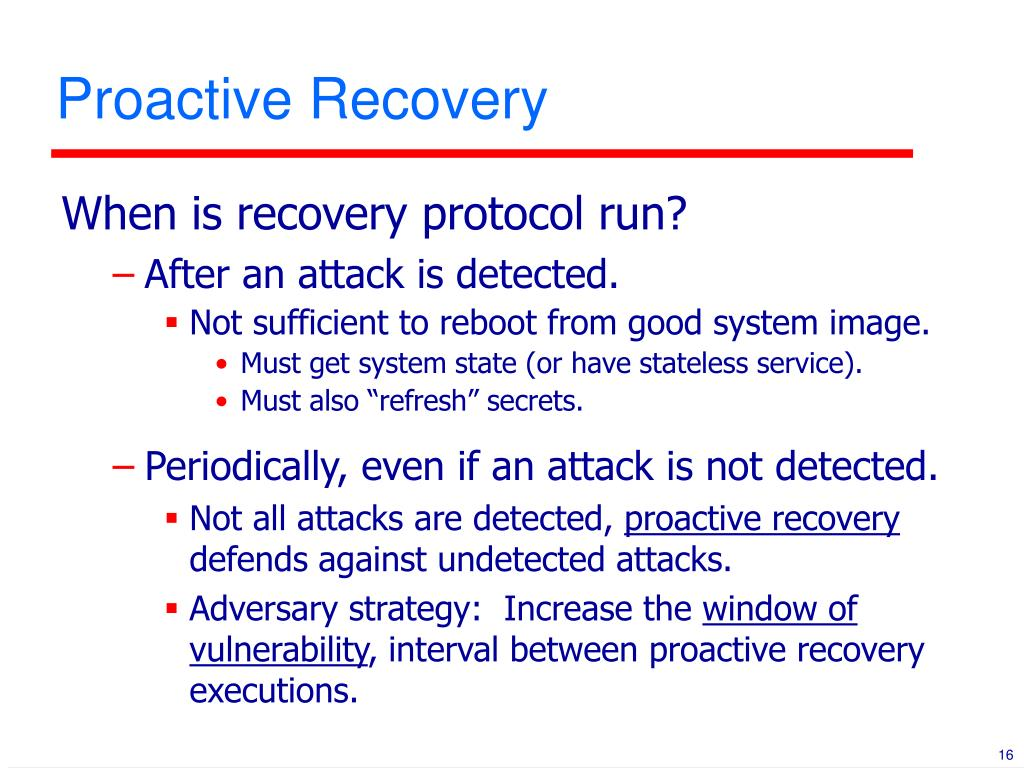 Proactive Recovery
