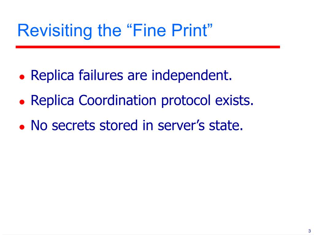 """Revisiting the """"Fine Print"""""""