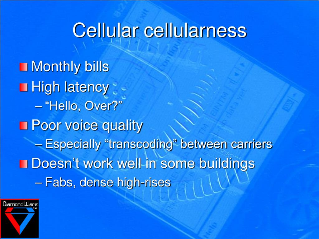Cellular cellularness