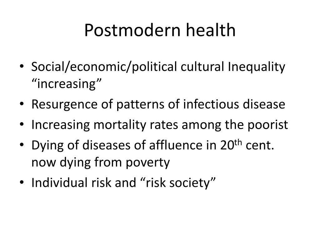 Postmodern health