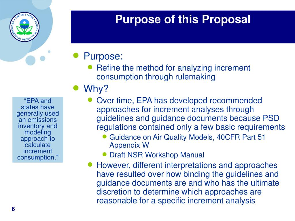 Purpose of this Proposal