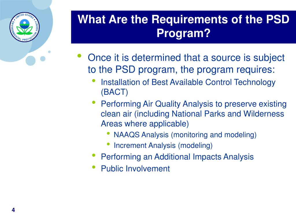 What Are the Requirements of the PSD Program?