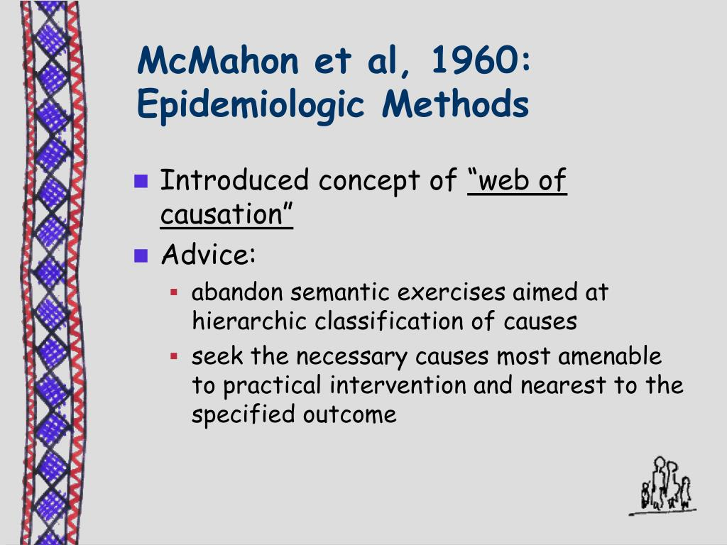 McMahon et al, 1960: Epidemiologic Methods
