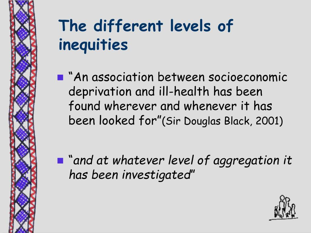 The different levels of inequities