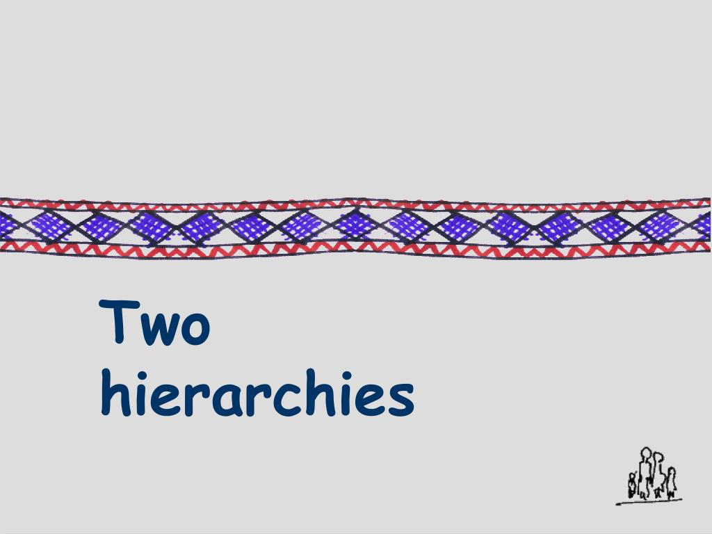 Two hierarchies
