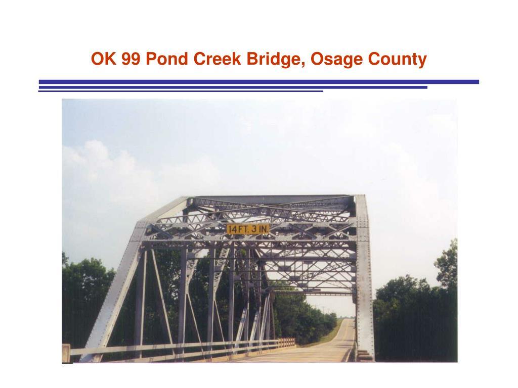 OK 99 Pond Creek Bridge, Osage County