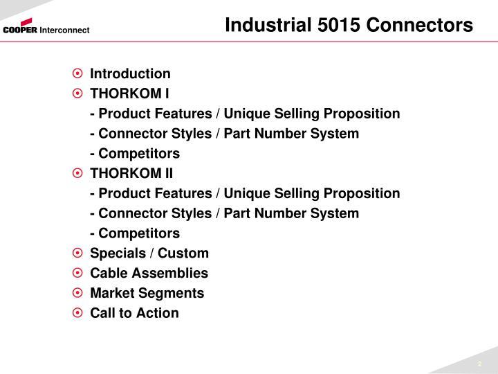 Industrial 5015 Connectors