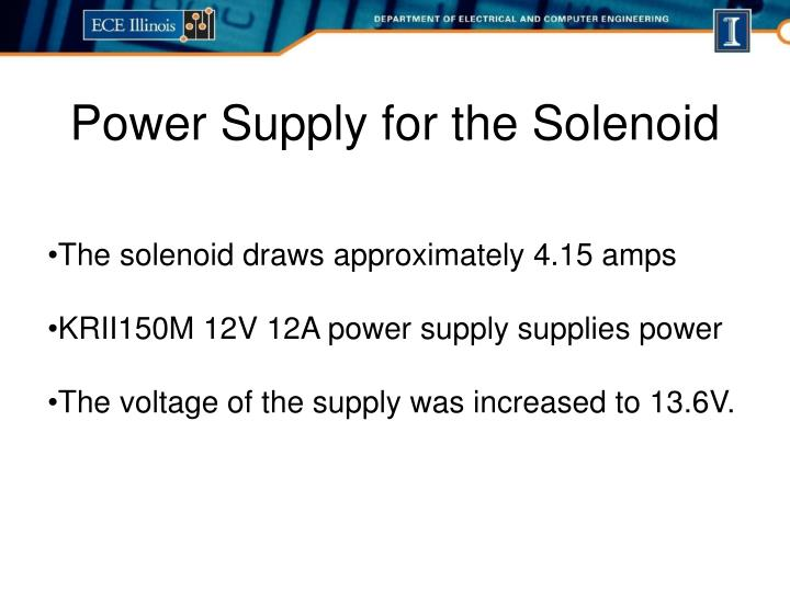 Power Supply for the Solenoid
