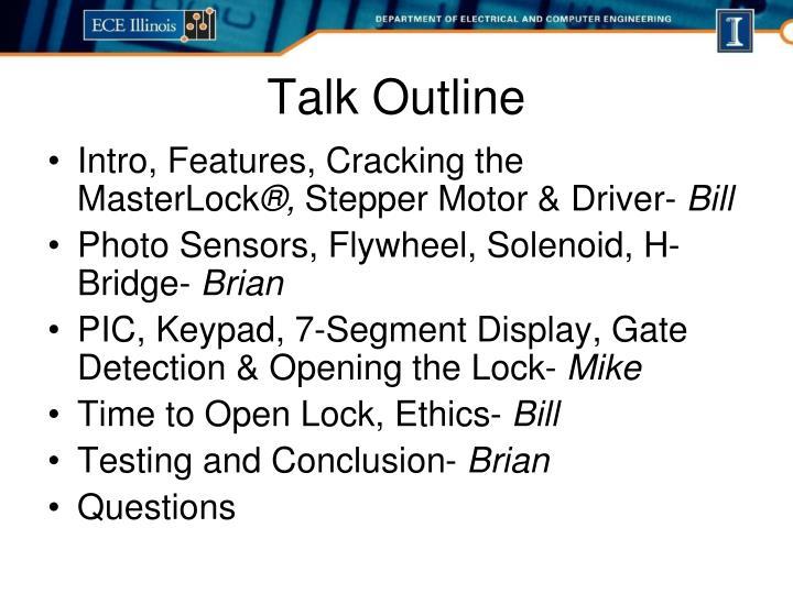 Intro, Features, Cracking the MasterLock