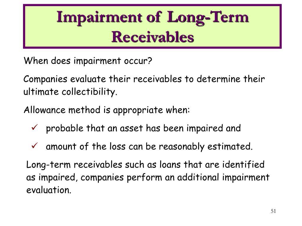 Impairment of Long-Term Receivables