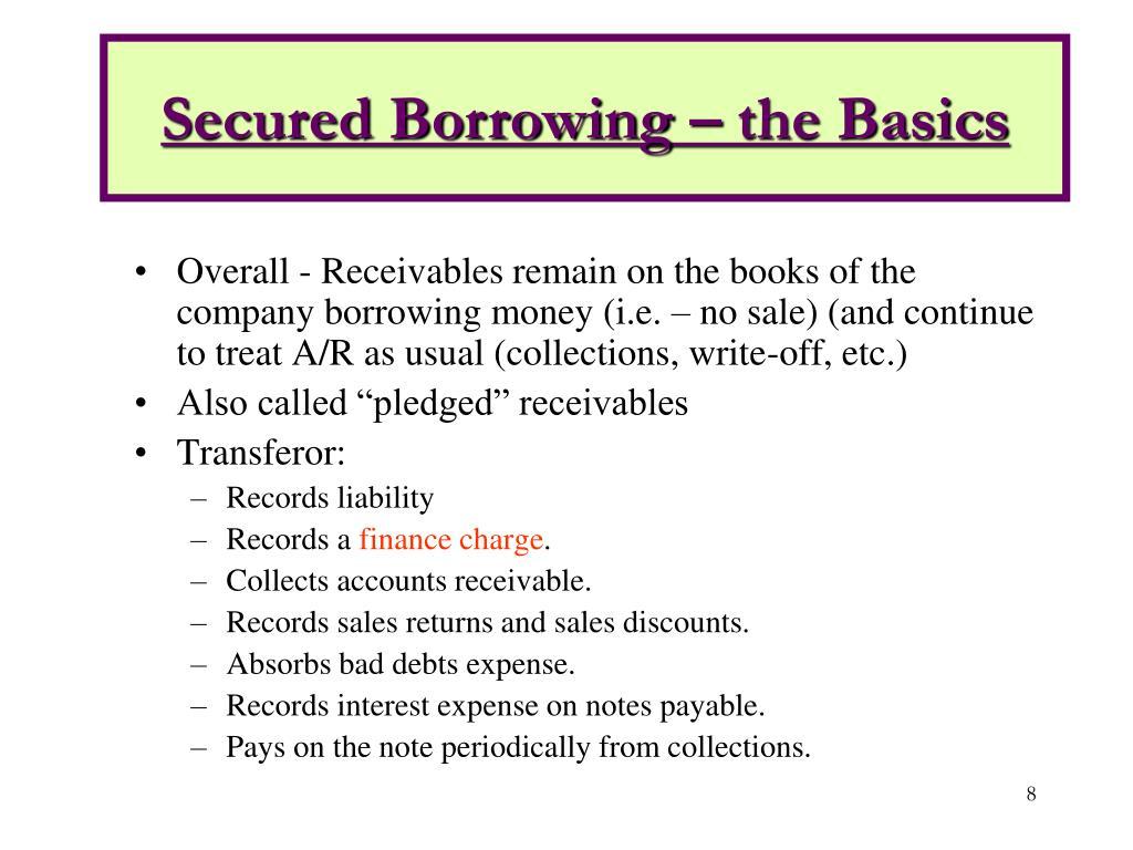 Secured Borrowing – the Basics