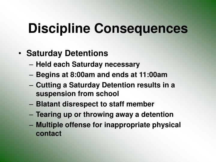 Discipline Consequences