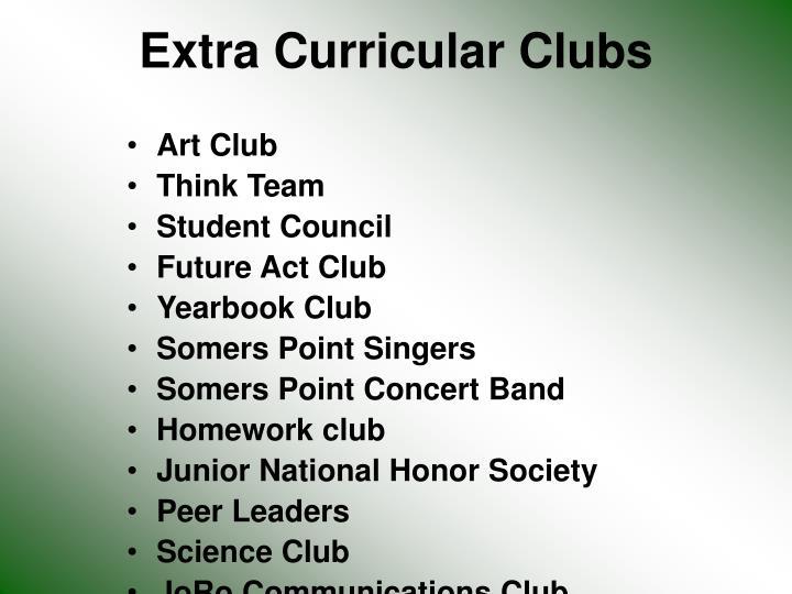 Extra Curricular Clubs