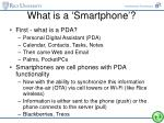what is a smartphone