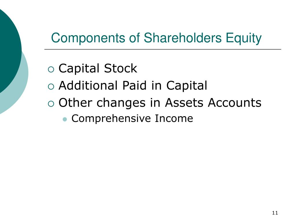 Components of Shareholders Equity