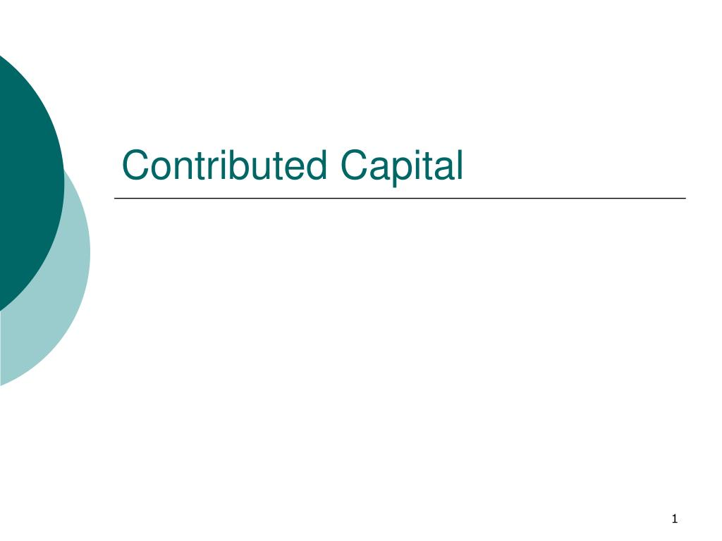 Contributed Capital