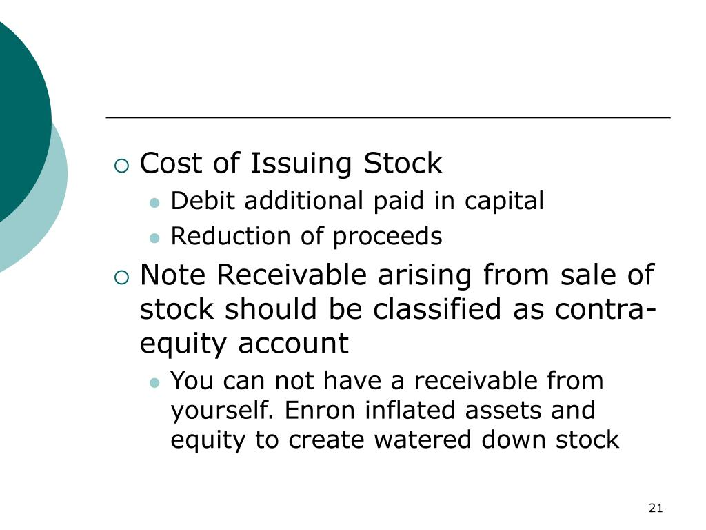 Cost of Issuing Stock