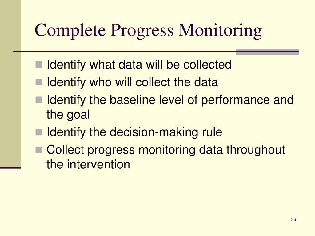 Complete Progress Monitoring