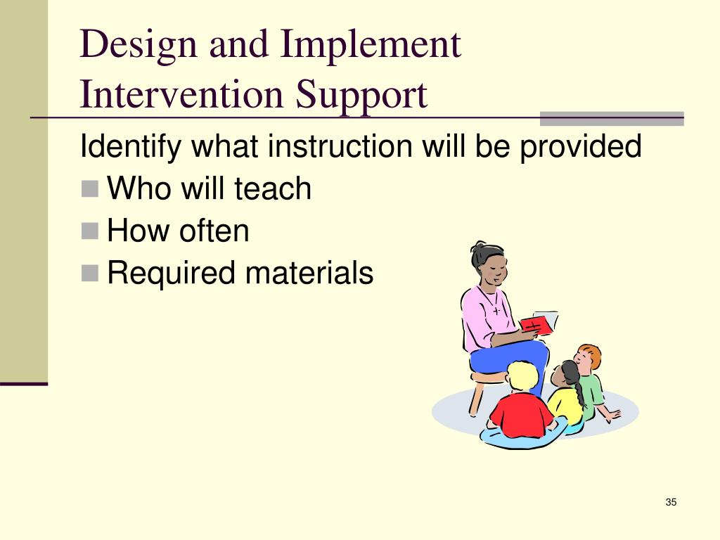 Design and Implement Intervention Support