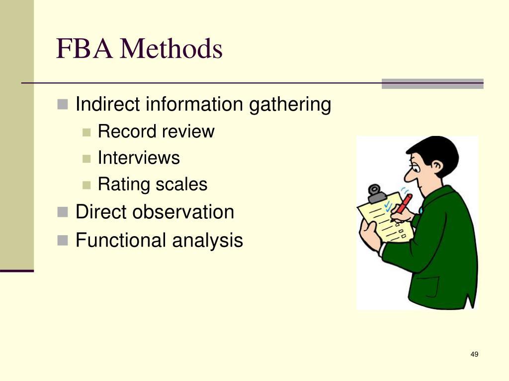 FBA Methods