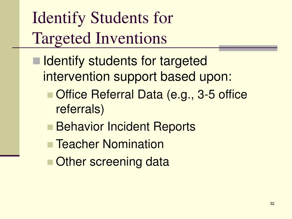 Identify Students for