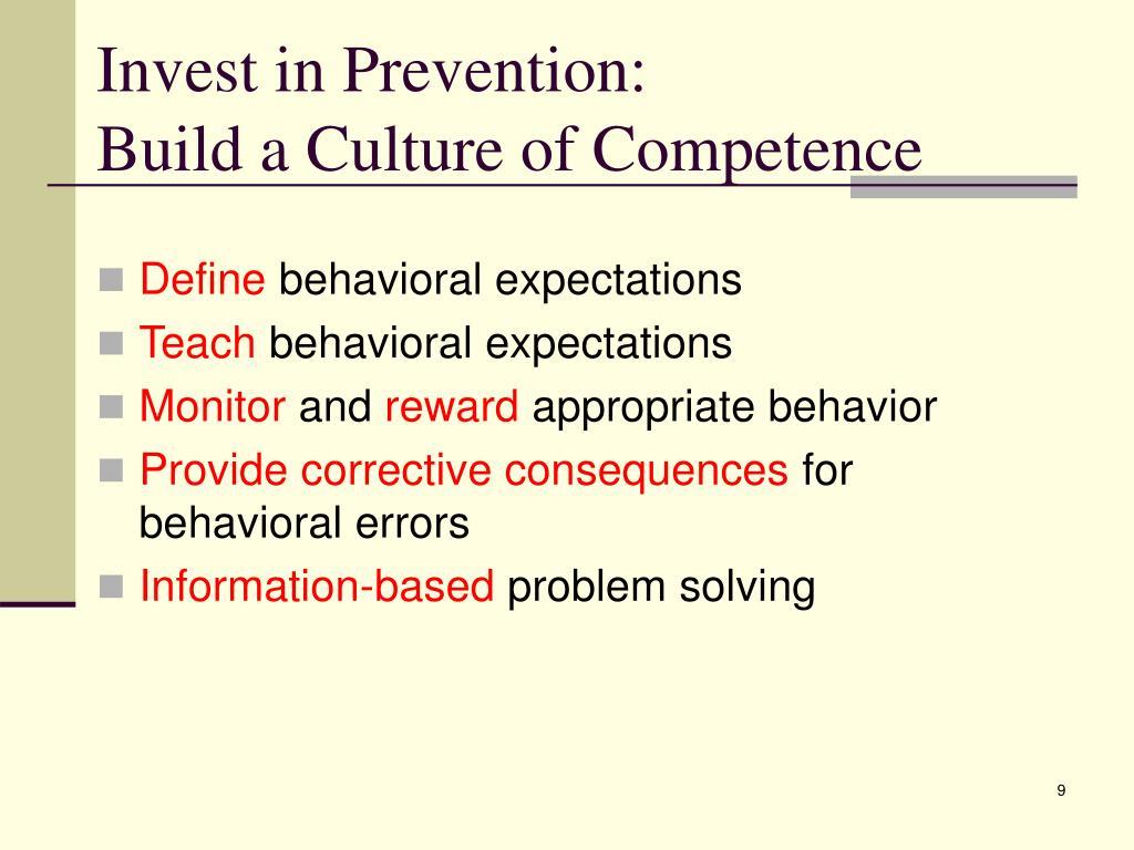 Invest in Prevention: