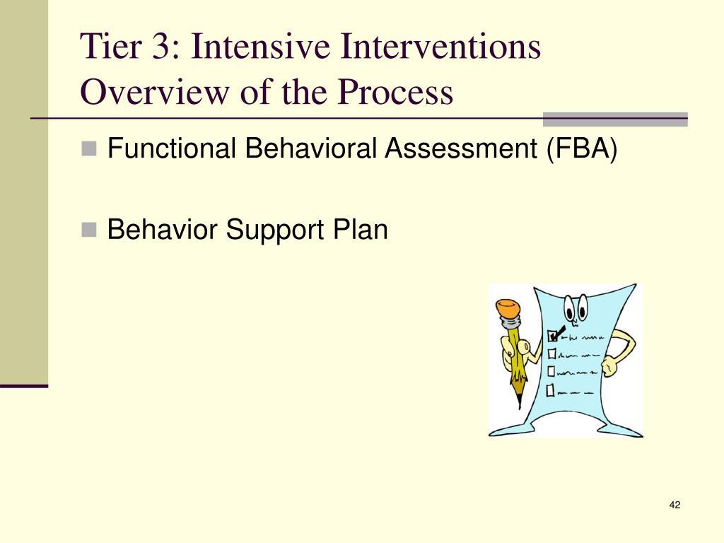 Tier 3: Intensive Interventions