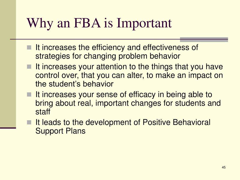 Why an FBA is Important