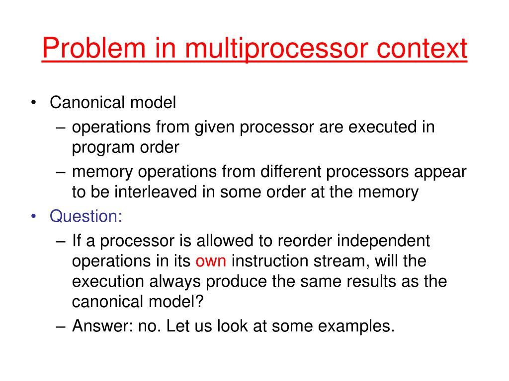Problem in multiprocessor context