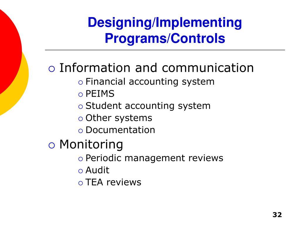 Designing/Implementing