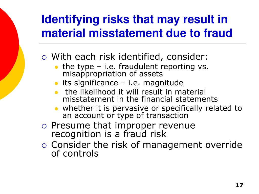 Identifying risks that may result in material misstatement due to fraud