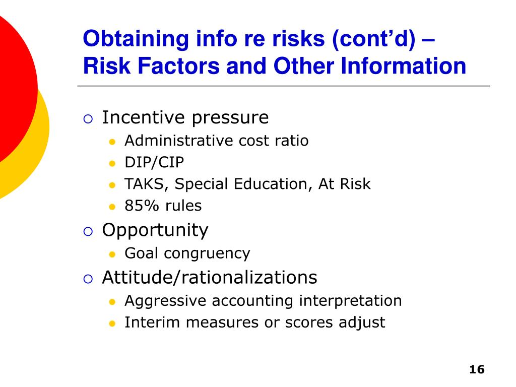 Obtaining info re risks (cont'd) – Risk Factors and Other Information