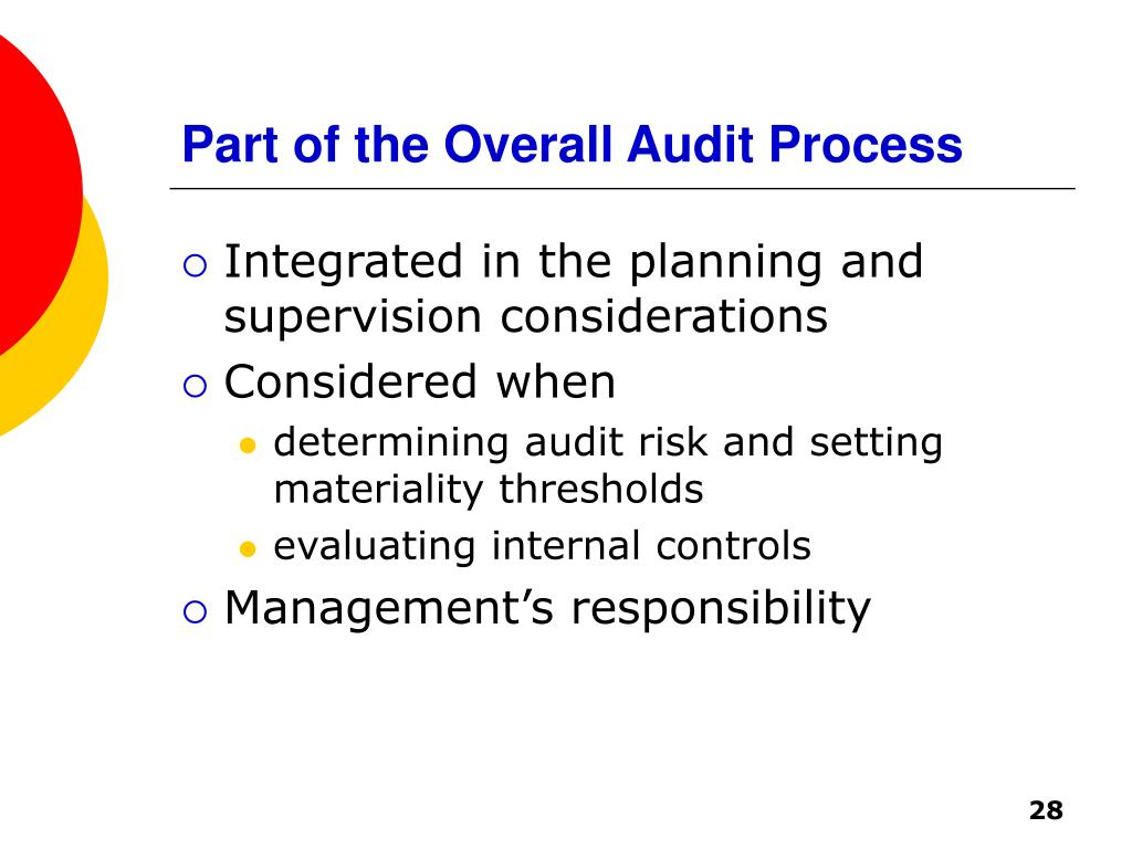Part of the Overall Audit Process