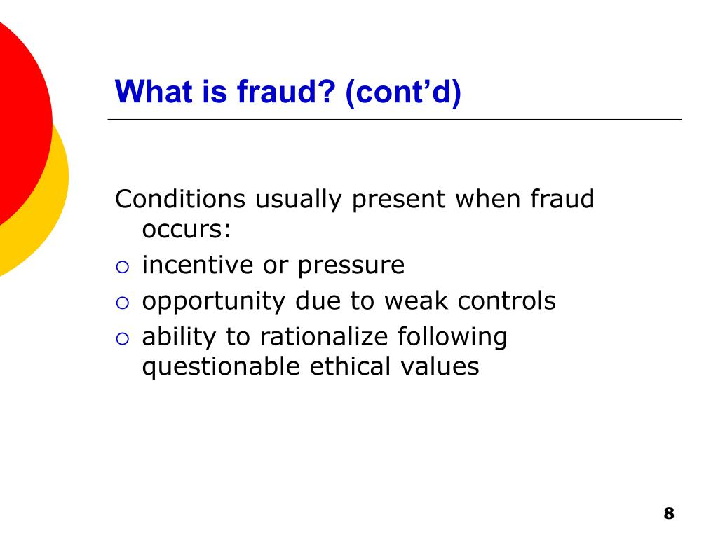 What is fraud? (cont'd)