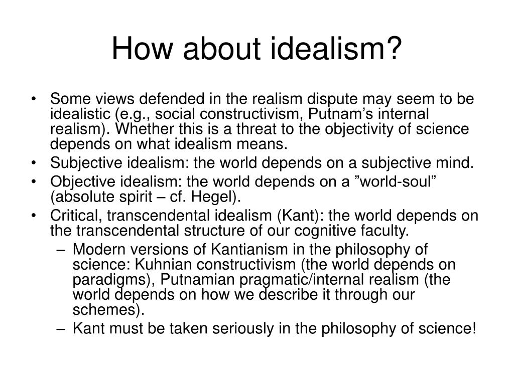 How about idealism?