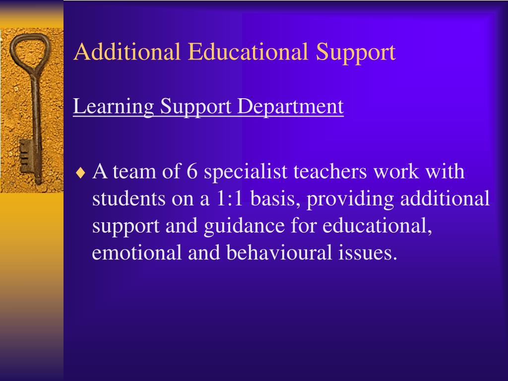 Additional Educational Support