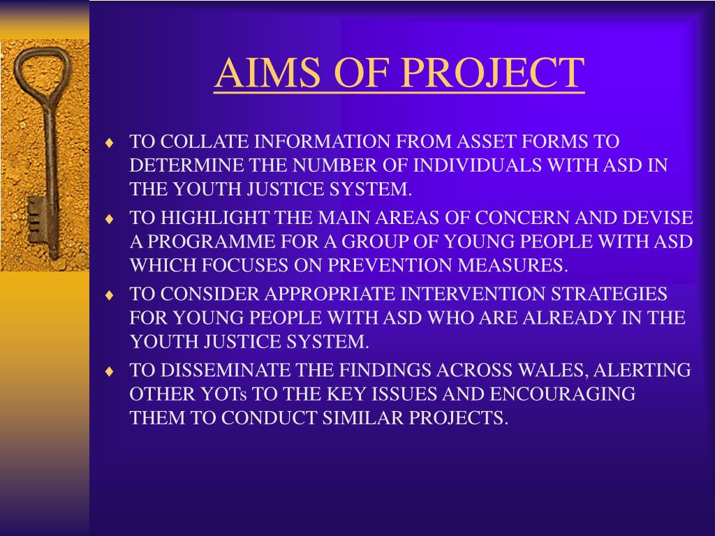 AIMS OF PROJECT