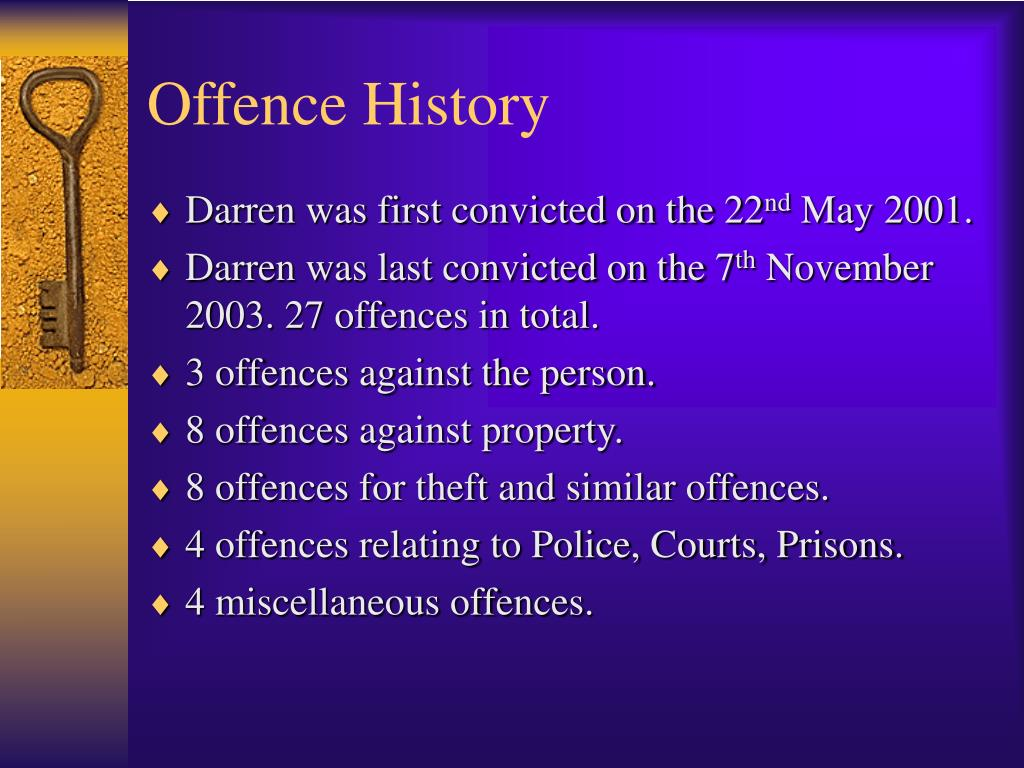 Offence History