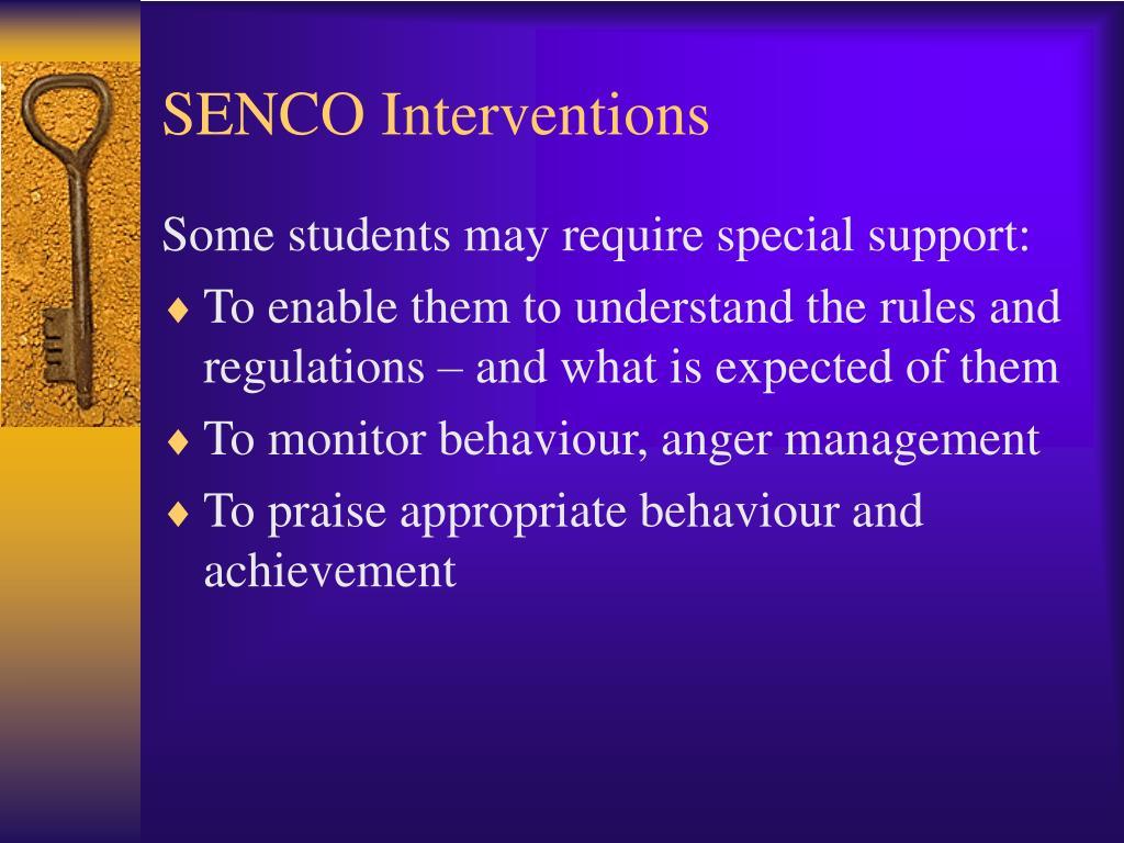 SENCO Interventions