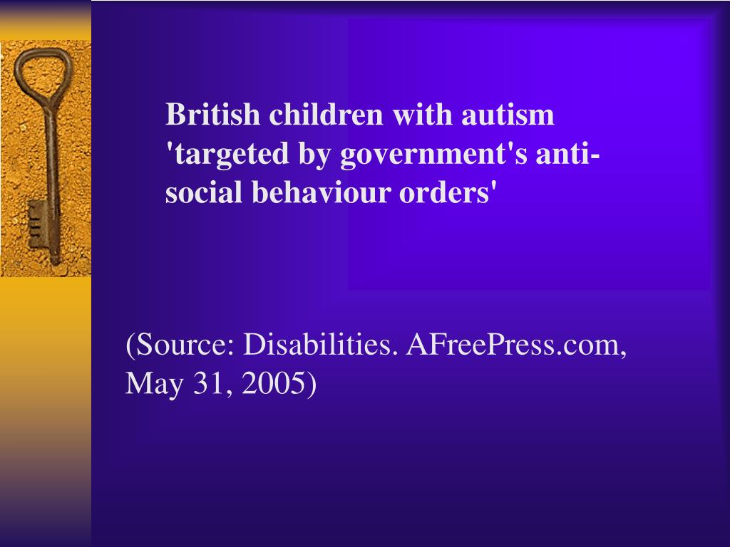 British children with autism 'targeted by government's anti-social behaviour orders'
