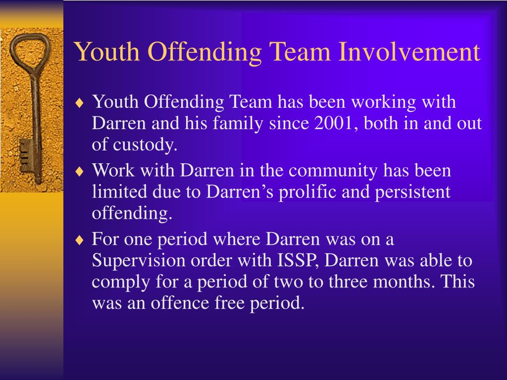 Youth Offending Team Involvement