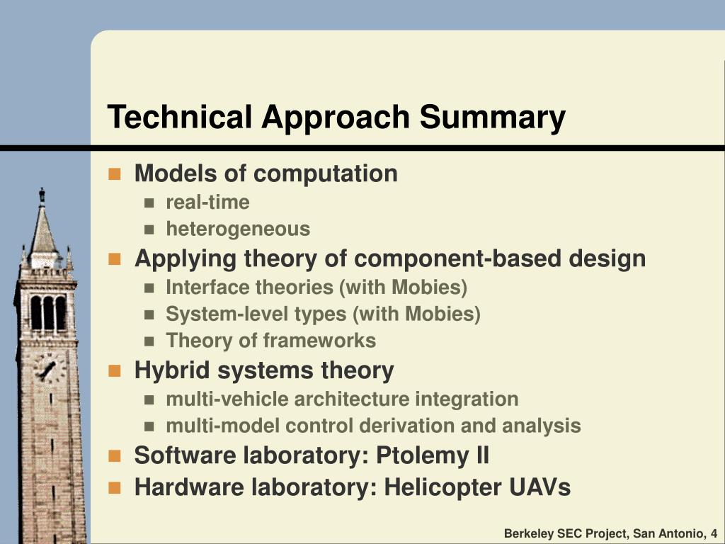 Technical Approach Summary