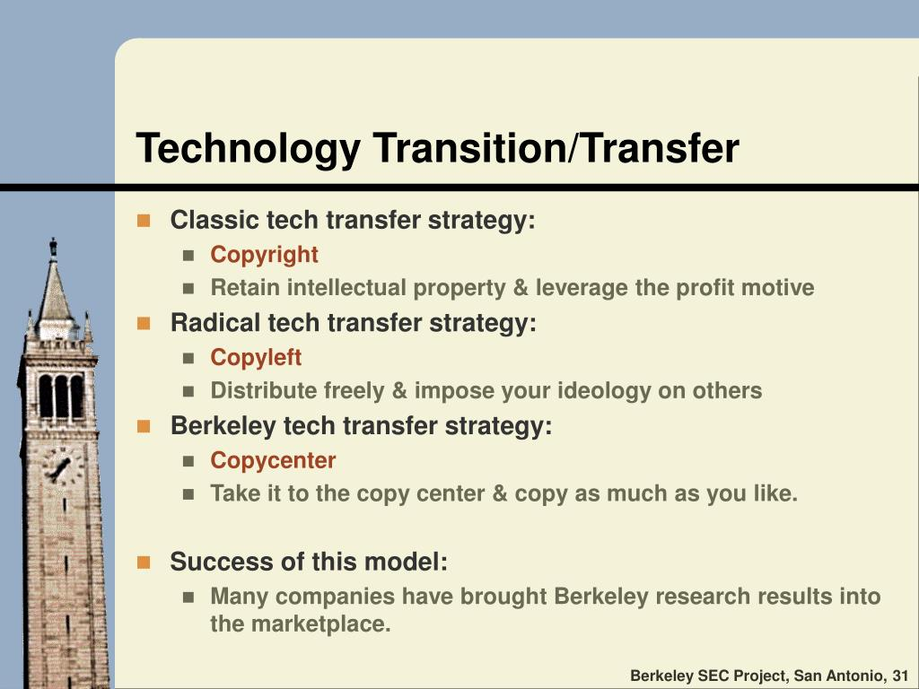 Technology Transition/Transfer
