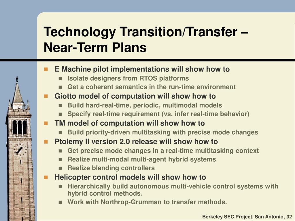 Technology Transition/Transfer –
