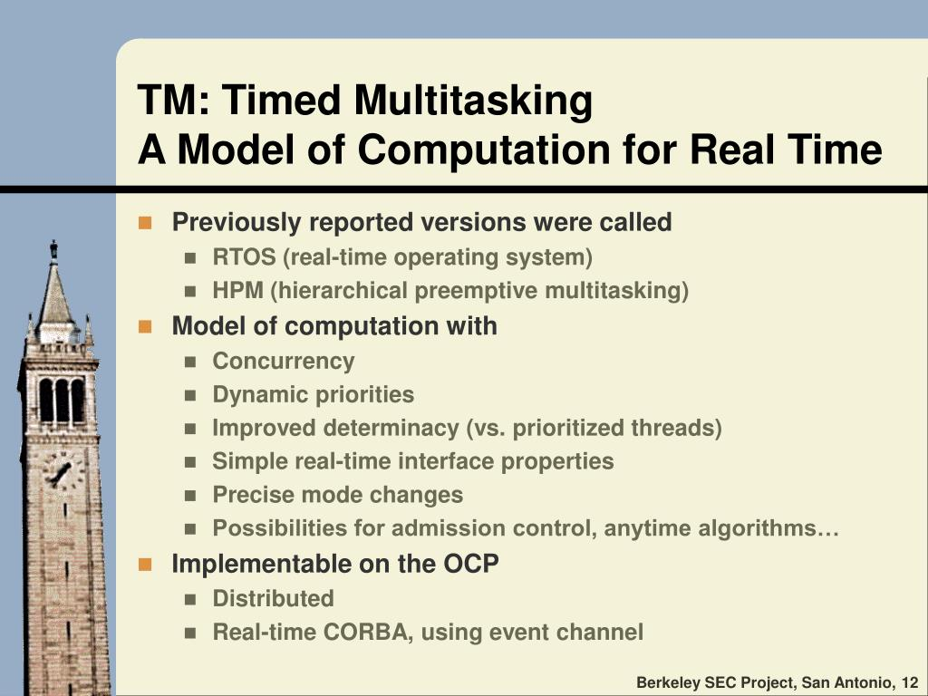 TM: Timed Multitasking
