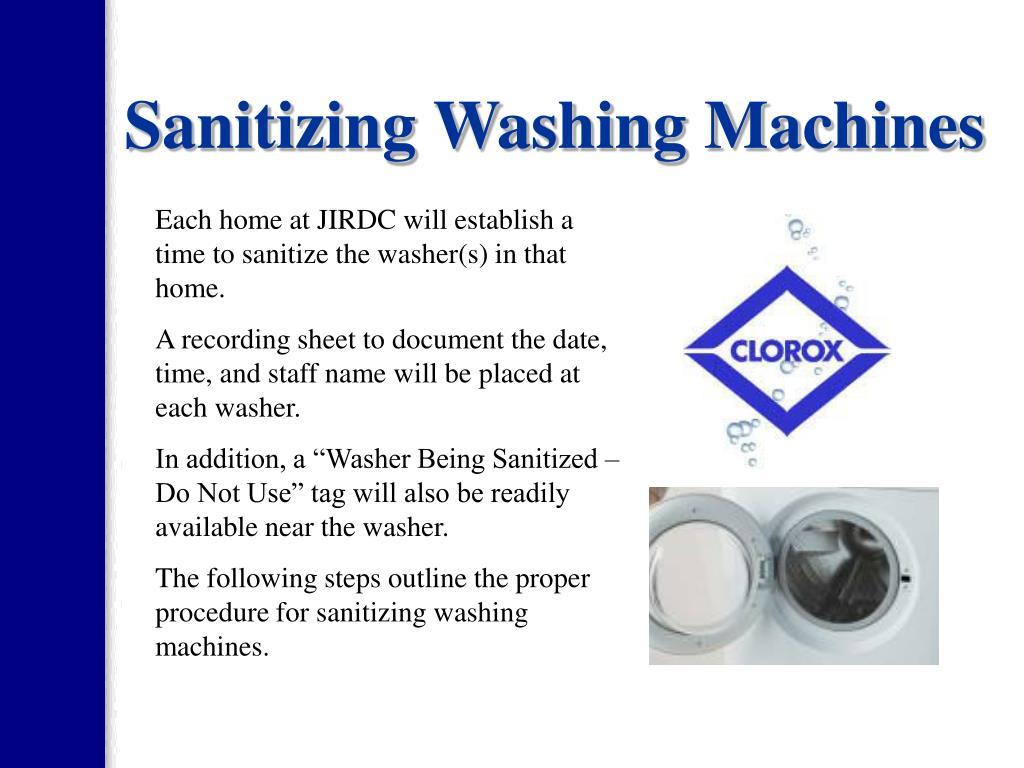 sanitizing washing machine