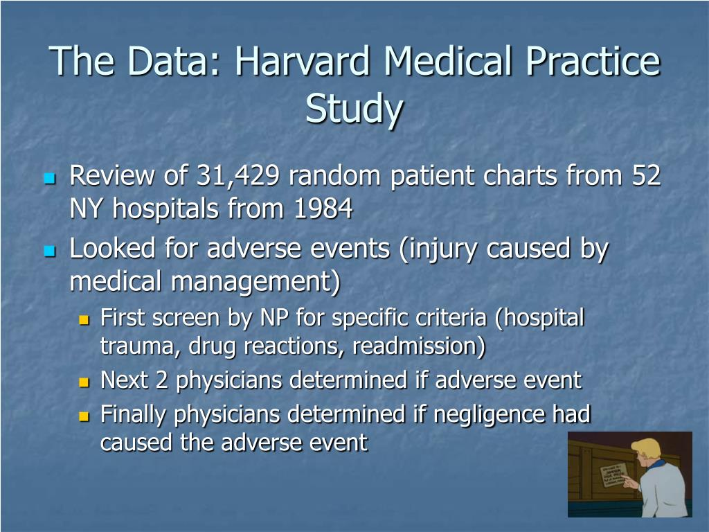 The Data: Harvard Medical Practice Study