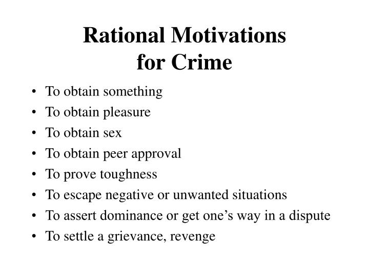 Rational Motivations